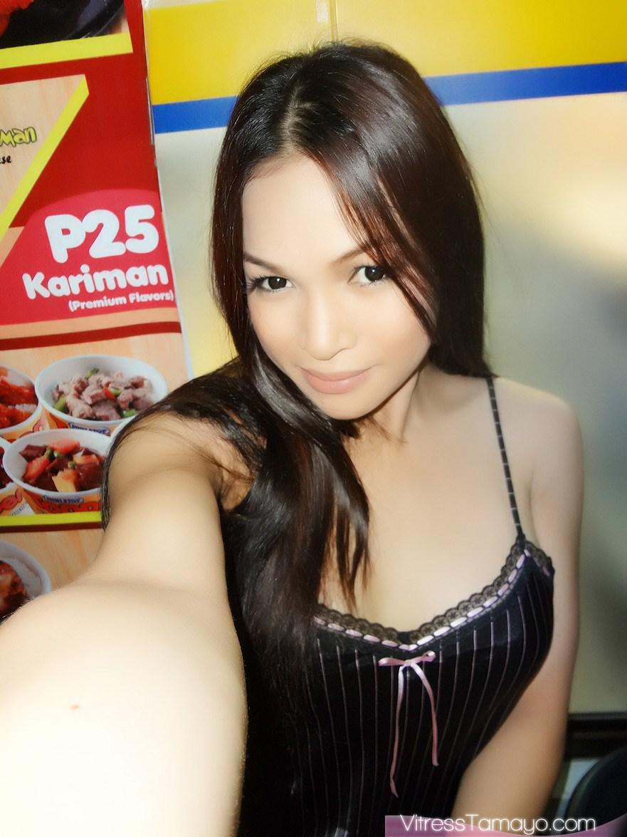 Ts Vitress Tamayo shows off her shedick